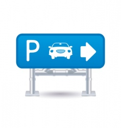 parking sign icon vector image