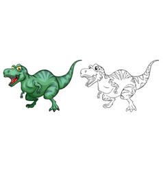animal outline for t-rex dinosaur vector image