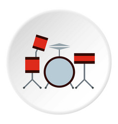 drums icon circle vector image