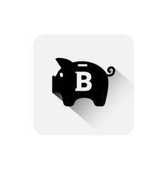 piggy bank bitcoin sign icon digital web money vector image