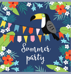summer party greeting card invitation vector image vector image