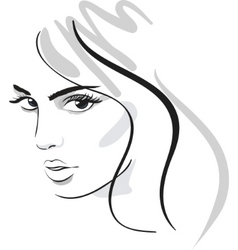 beautiful face vector image vector image