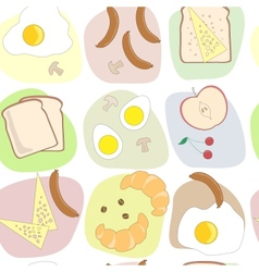breakfast table seamless pattern vector image vector image