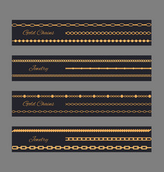 gold chain jewelry poster vector image