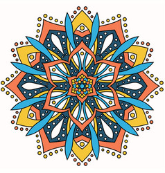 Abstract round ornament circle mandala pattern vector