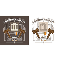 Administrative lawauthority and government symbol vector