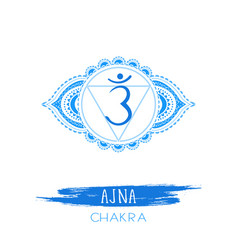 Ajna - third eye chakra vector