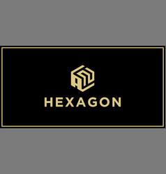 an hexagon logo vector image