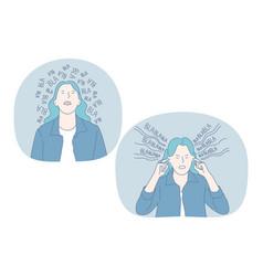 Anger loud sounds noise concept vector
