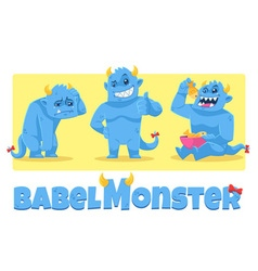 Babel Monster vector image