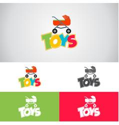 Baby toys logo vector