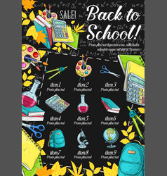 Back to school special offer banner sale design vector