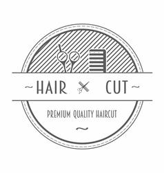 Barber Shop emblem or label vector