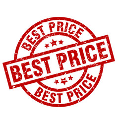 Best price round red grunge stamp vector