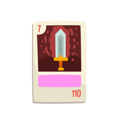 board game card with magic sword vector image