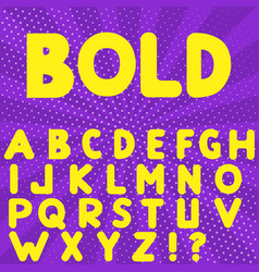 bold hand drawn alphabet vector image