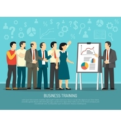 Business Training Program Class Flat vector