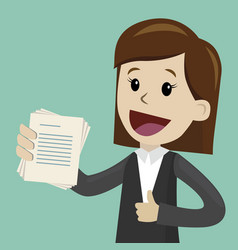 Businesswoman has a lot of jobs job is finished vector