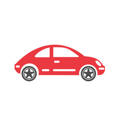 car icon on background for graphic and web design vector image