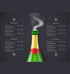 Champagne wine bottle vector