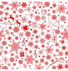 christmas seamless pattern snowflakes vector image