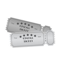 Cinema ticket on white vector image