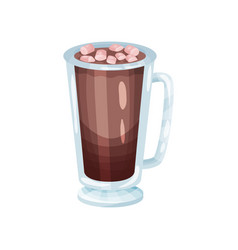 Coffee smoothie with marshmallows refreshment vector