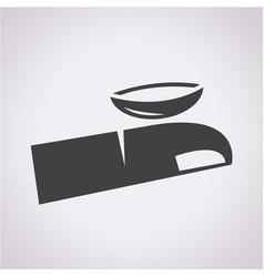 Contact lens icon vector