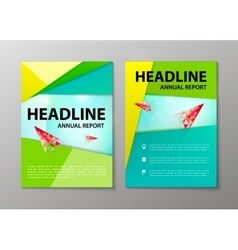 Corporate brochure flyer design layout vector