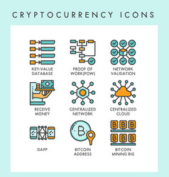 cryptocurrency icons concept vector image