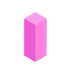cube with squared base 3d vector image