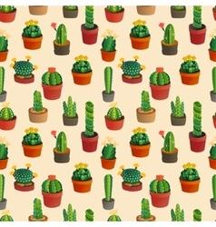 Cute cartoon cactus collection vector