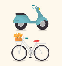 Cute vehicles design vector
