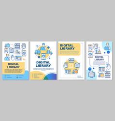 digital library brochure template ebooks reading vector image