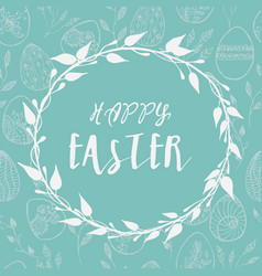 easter card with eggs hand drawn vector image
