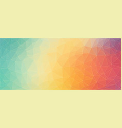 Flat triangle horizontal banner for web design vector