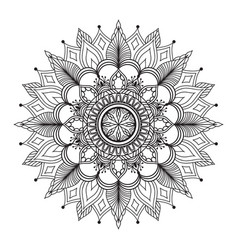flower mandala ethnic decoration element vector image