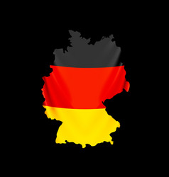 germany flag in form map federal republic of vector image