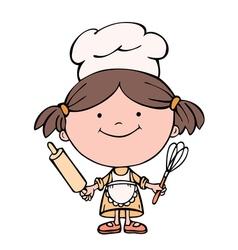 girl cook vector image