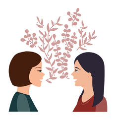 girls talk and communication concept happy women vector image