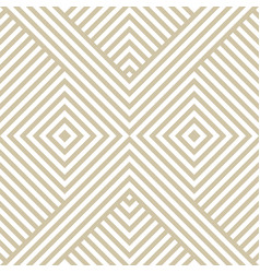 golden linear geometric seamless pattern vector image