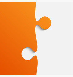grey and orange piece puzzle jigsaw vector image