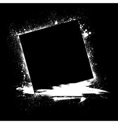 Grunge ink blots black vector