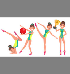 gymnastics female player gymnastic tape vector image