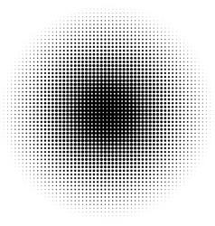 Halftone circles halftone dots pattern monochrome vector