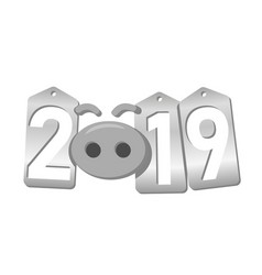 happy new year background pig nose silver sale vector image