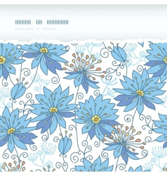 Heavenly flowers horizontal torn seamless pattern vector image