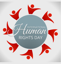 human rights day concept background cartoon style vector image