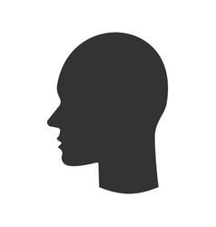 Humans head glyph icon vector