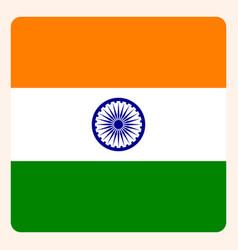 India square flag button social media vector